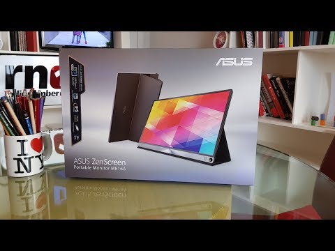 Unboxing and testing the ASUS ZenScreen MB16A 15.6
