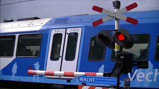 Spoorwegovergang Giethmen (Ommen) // Dutch railroad crossing