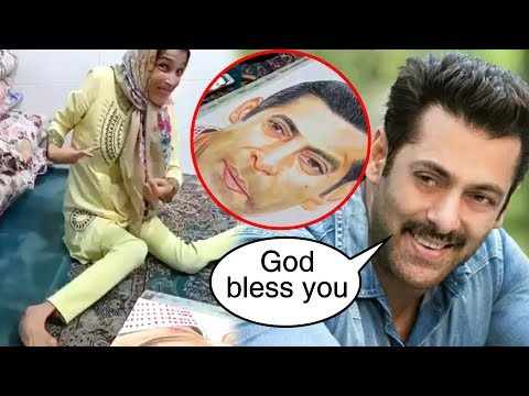 Salman Khan's DISABLED Girl Fan Draws His Portrait With Her LEGS | MUST WATCH