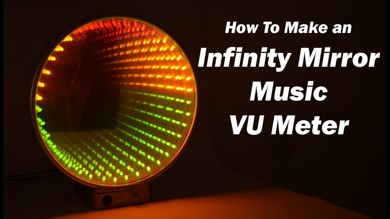 Infinity Mirror Music VU Meter Electronics Project using
