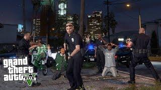 GTA 5 Игра за Полицейского #1 - НАЧАЛО СЛУЖБЫ В ГЕТТО!! (ГТА 5 МОДЫ)