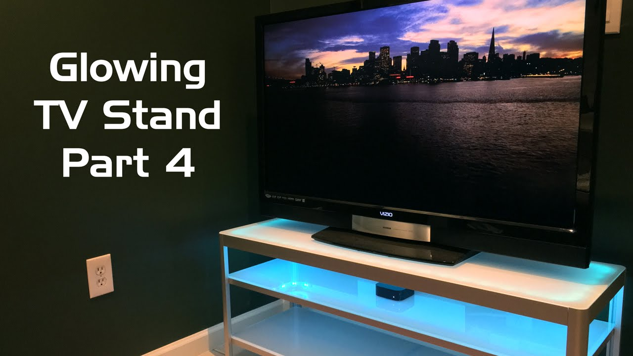 glowing tv stand with philips hue lightstrip plus part 4 youtube. Black Bedroom Furniture Sets. Home Design Ideas