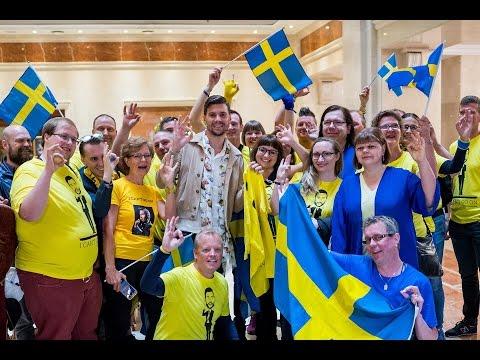 Robin Bengtsson träffar Melodifestivalklubben - första semifinalen - Kiev Express 10 maj