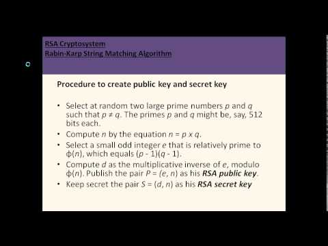RSA Cryptosystem and Rabin Karp String Matching Algorithm_in_HD