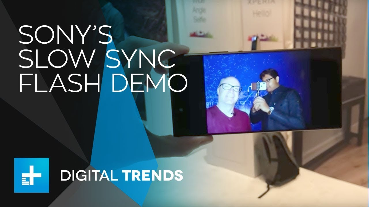 Sony Xperia XA2 Ultra – Slow Sync Flash Demo at CES 2018