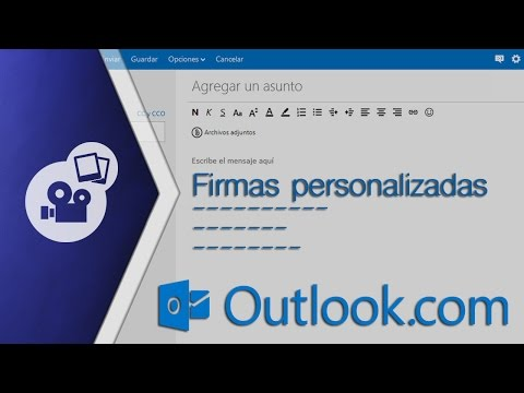 Crear firma personalizada para correo electrónico de Outlook y Hotmail