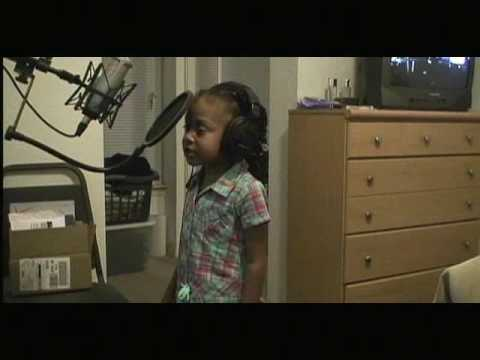 5 year old daughter of Shawn Jay (Field Mob) freestyle rap