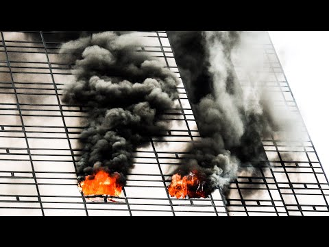 **TRUMP TOWER FIRE!** - Heavy Fire on the 50th Floor at Manhattan 4th Alarm 10-76 Box 4500
