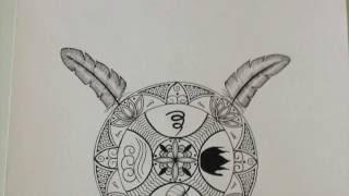 Drawing Key of Solomon