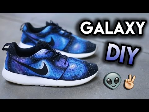 How To: Galaxy Your Shoes (No Airbrush) | Full Roshe Run Custom Tutorial Timelapse