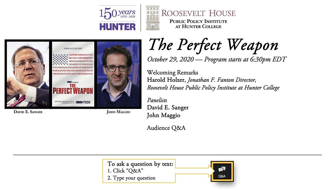Download David E. Sanger and John Maggio — The Perfect Weapon