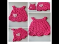 Baby Girl Dress Jumper Hot Pink with Heart - 0 to 3 Months -