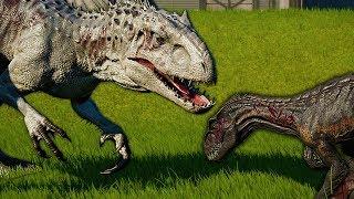 ⚡ INDOMINUS REX vs INDORAPTOR - Jurassic World Evolution PL #14