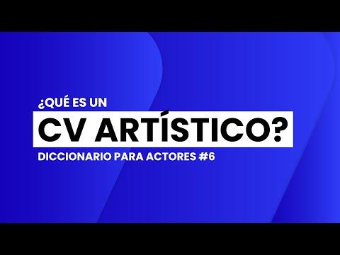 ¿Qué es un CV ARTÍSTICO?   📖🎬 DICCIONARIO para ACTORES #6