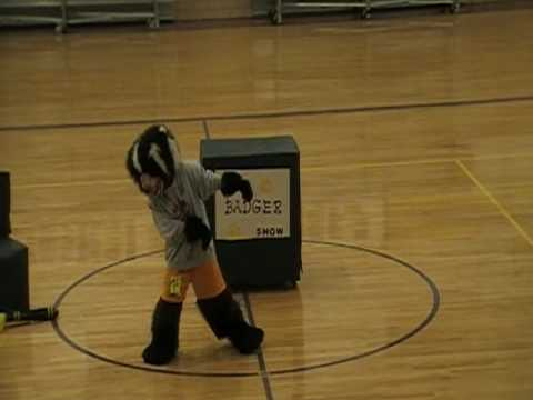Anna's 2010 Middle School Mascot Tryouts - YouTube