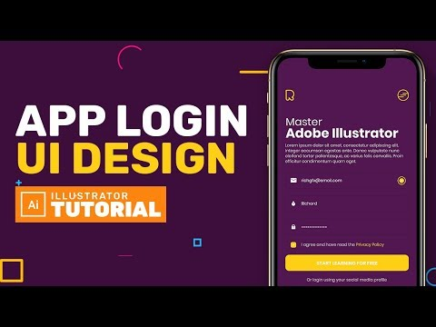 App Login UI Design in Adobe Illustrator - Adobe Illustrator Tutorial thumbnail