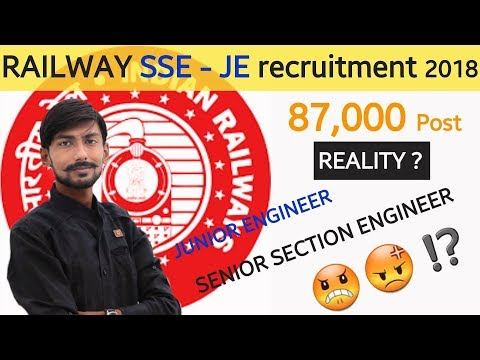 RRB SSE / JE 2018 – 87000 POST on CONTRACT : REALITY ?😡💩