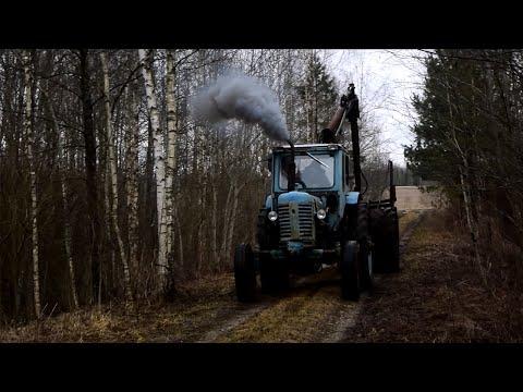 Tractor Belarus MTZ-50 (MTZ-52L) Full Throttle Smoke (1080p)