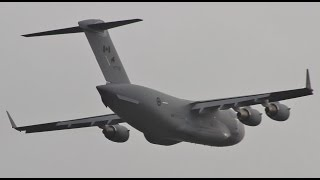 Quick Canadian C17 Takeoff at Prestwick Airport