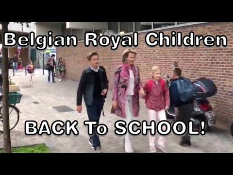 Queen Mathilde Drops Belgian Royal Children Off At School On 1st Day Back 2018