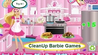 Play Free Online Barbie Games For Girls | Party Cleanup