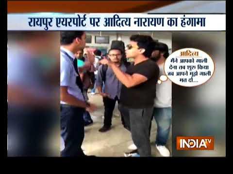 Raipur Airport: Bollywood singer Aditya Narayan threatens Indigo airline officials