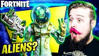 FORTNITE-ALIENS COMING? NEW SKINS, NEW WEAPONS AND MORE! (News + Departure)