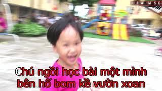 Chú Ếch Con - Karaoke Beat || Nhạc trẻ em || Hải Nam Music || Nhạc trẻ em giống Xuân Mai