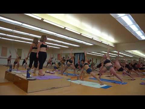Elizabeth Fendley Macgregor Teaching at Bikram Yoga Salt Lake City, Utah