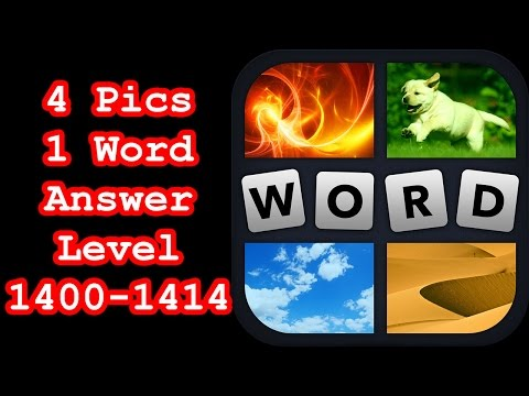 4 Pics 1 Word - Level 1400-1414 - Find 4 Words Describing Numbers! - Answers Walkthrough