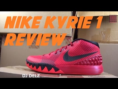 pretty nice 34c75 f7880 Nike Kyrie Irving 1 Deceptive Red Sneaker Unboxing + Detailed Review + On  Feet With  DjDelz - YouTube