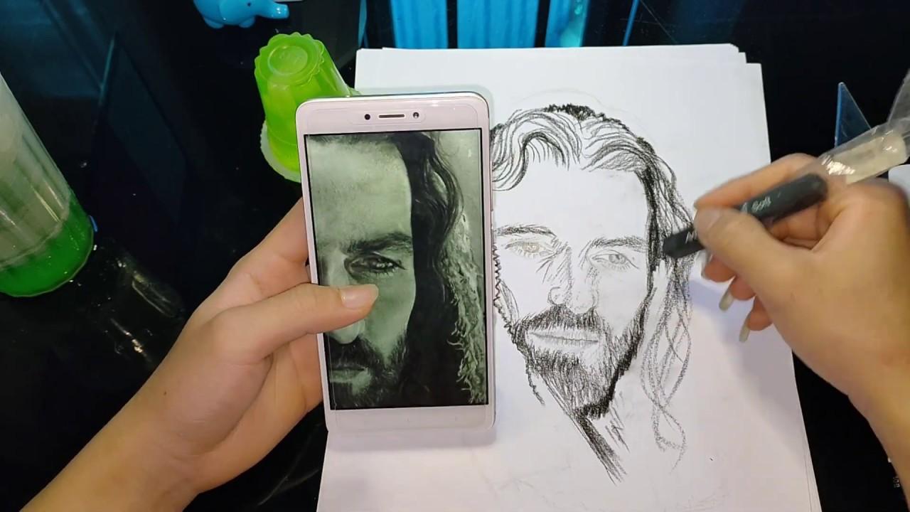 dùng cây ''than cục'' để vẽ chúa JESUS. drawing Jesus with  Charcoal. #jesus #chúa