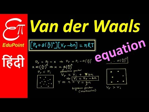 Van der Waals equation for real gases | video in HINDI