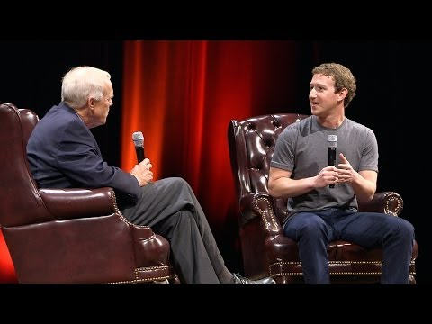 Mark Zuckerberg in conversation with Stanford President John Hennessy