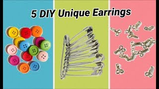 5 DIY stunning earrings making at home