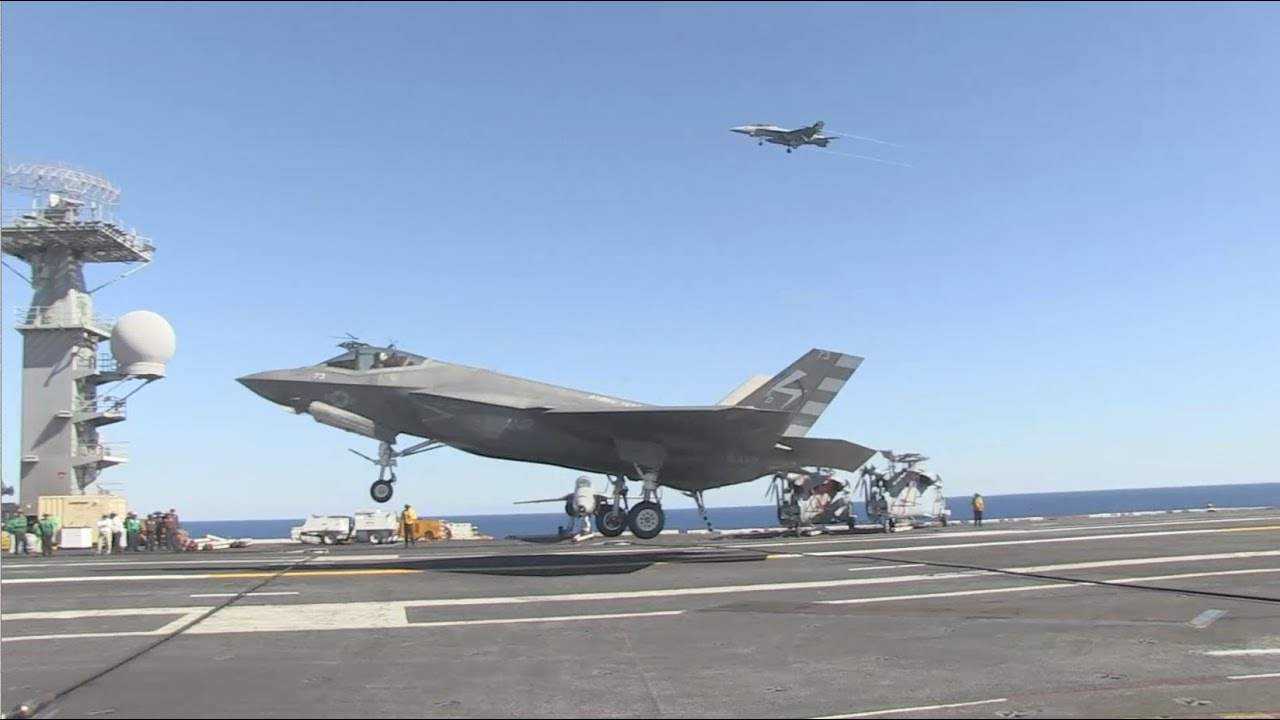 F-35C Completes First Arrested Landing aboard Aircraft ...