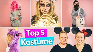 5 coole KOSTÜMIDEEN für Karneval, Fasching, Halloween | Last Minute Verkleidung selber machen DIY