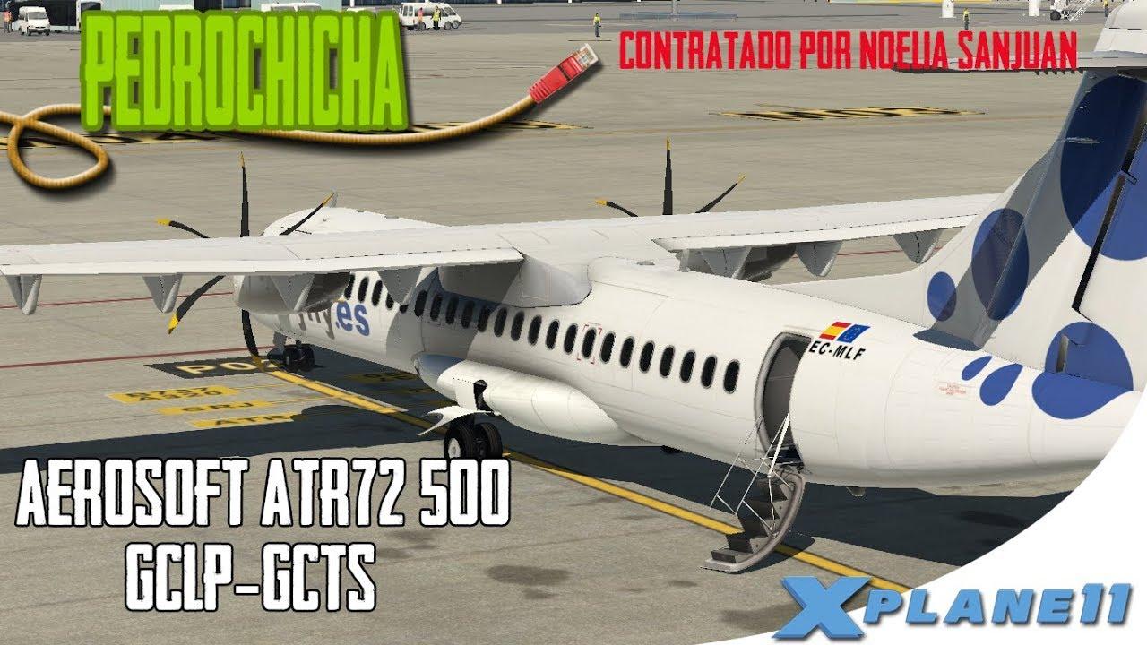 X Plane 11] ATR 72-500 | Arco DME con ayuda FMC | NAV1 NAV2 RADIOAYUDAS