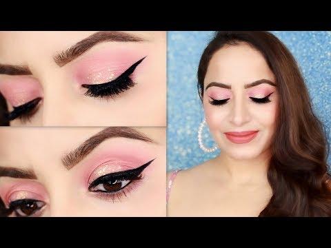 Simple Peach Glowy Makeup Tutorial For Valentine's Day in HINDI | Deepti Ghai Sharma