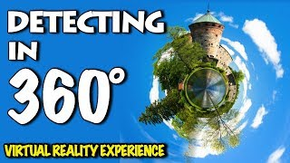 Metal Detecting in 360° VR virtual reality.
