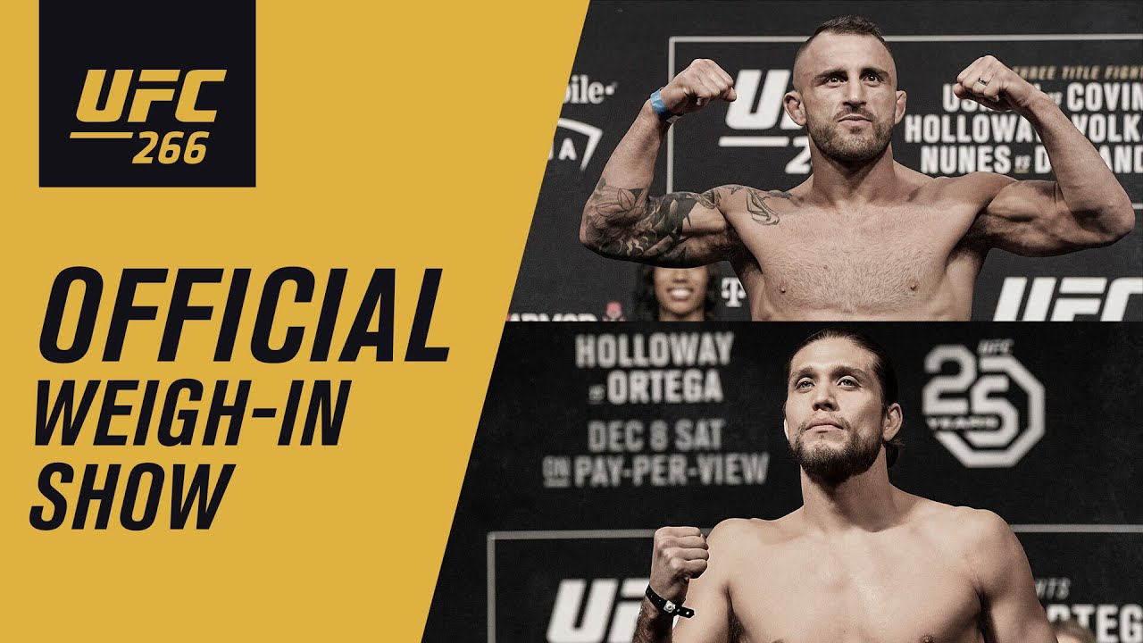 Download UFC 266: Live Weigh-in Show