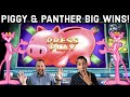 BIG JUICY WINS on Piggy Bankin' & Pink Panther Slot Machines!