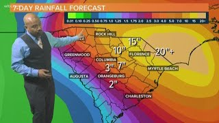 12PM Florence Update: Flooding Rains Coming to South Carolina