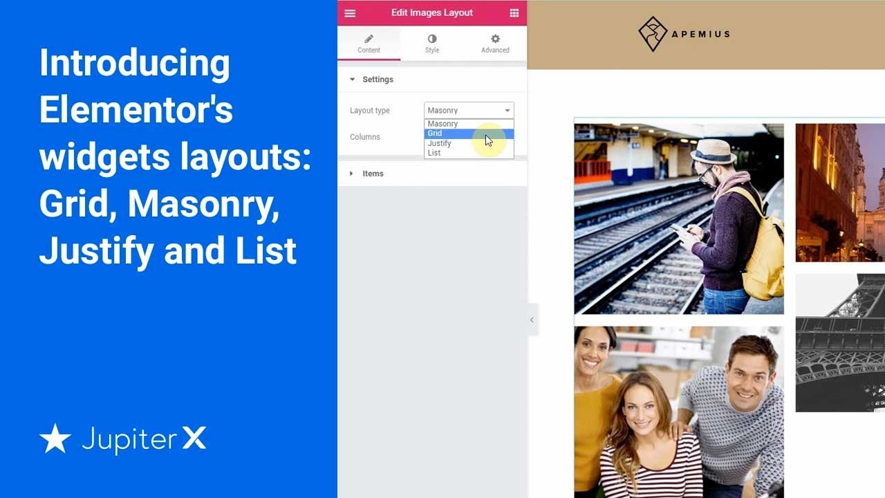 Grid, Masonry, Justify and List layouts - WordPress Websites For