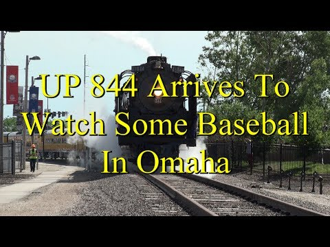 UP 844 Arrives at home plate in Omaha