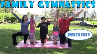 One of Bratayley's most viewed videos: Family Gymnastics Challenge | Bratayley