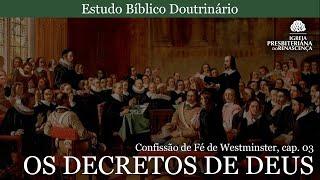 Estudo doutrinário - Os Decretos de Deus (CFW, Cap. 3, pt 6)