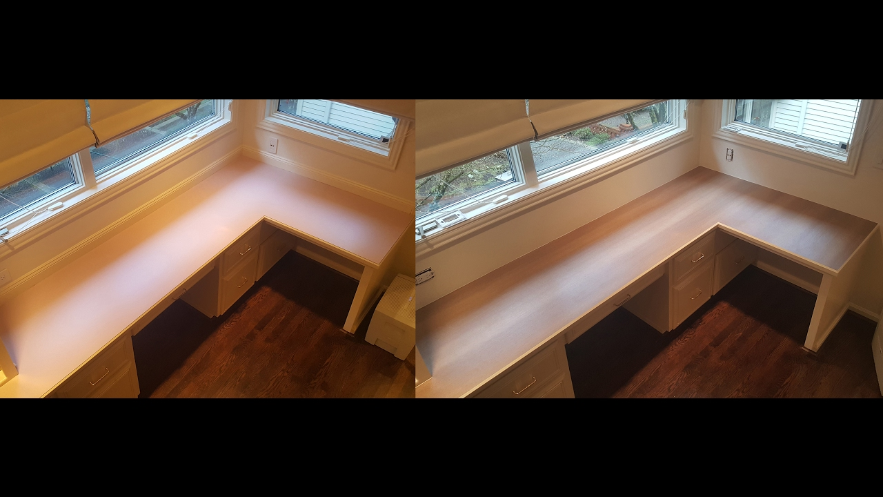 How to install laminate on a countertop. Replace Laminate Sheet.