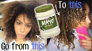 How to Get Your Curls Back with a Mayonnaise Mask