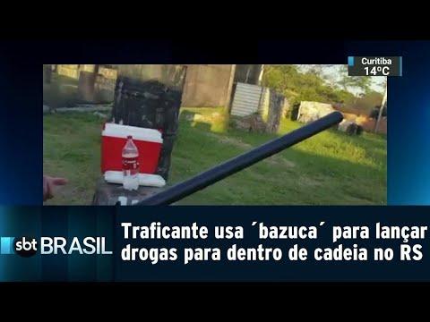 Traficante usa ´bazuca´ para lançar drogas para dentro de cadeia | SBT Brasil (18/08/18)